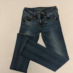 American Eagle kick boot stretch jeans sz 0